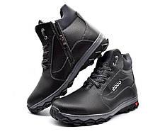 Мужские ботинки зимние утепленные на протекторной подошве, фото 3