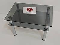 """Журнальный стеклянный столик """"Овьедо"""" 550/380/500 (тонированное стекло)"""