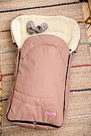Зимовий конверт - чохол на овчині в коляску і санки