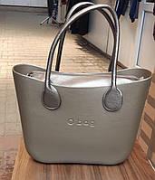 Женская сумка O bag classic в серебристым корпусе