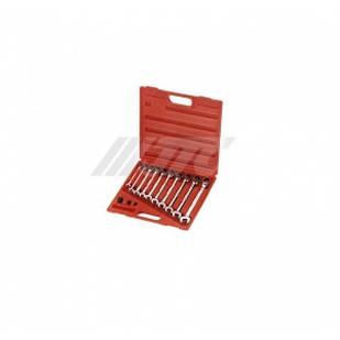 Набор ключей рожково-накидных с трещоткой 8-19мм 10ед