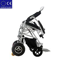 Легкая, складная электроколяска для инвалидов W1023-26. Инвалидная коляска переносная., фото 2