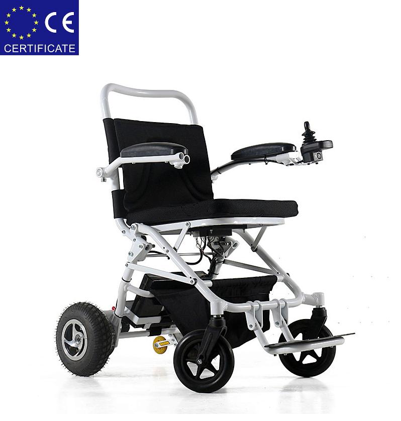 Легкая, складная электроколяска для инвалидов W1023-26. Инвалидная коляска переносная.