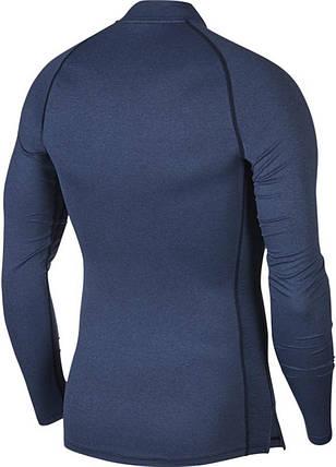 Термобелье мужское Nike Top Tight LS Mock BV5592-451 Темно-синий, фото 2