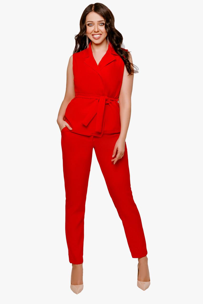 Женский брючный костюм Красный