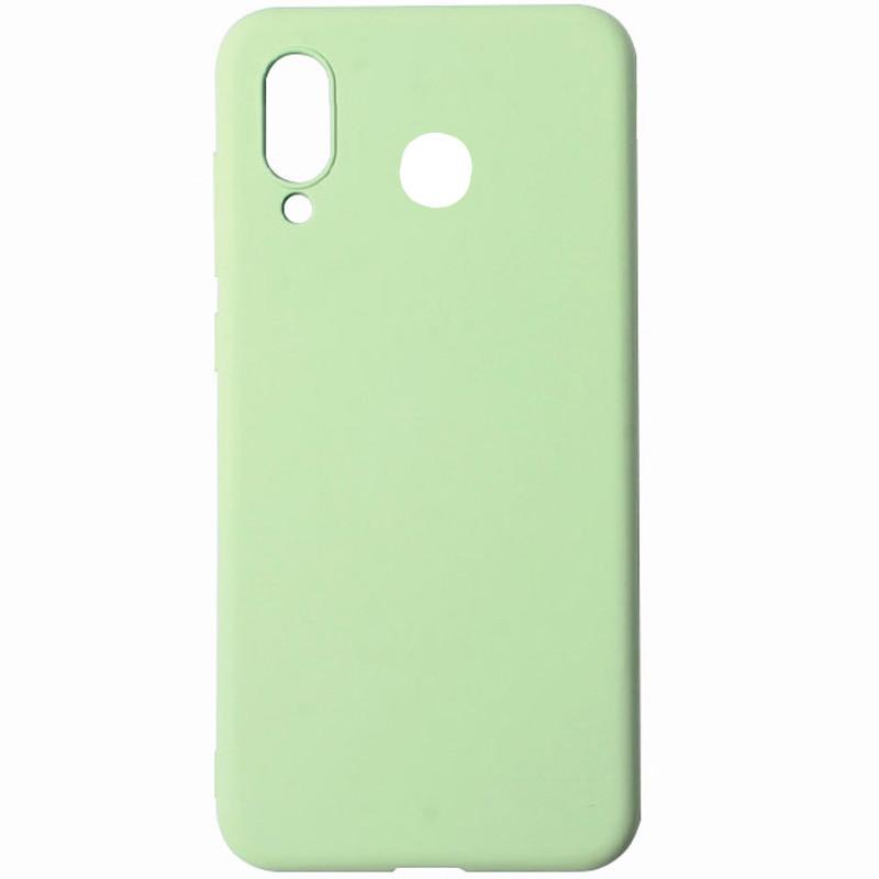 Силиконовый чехол Soft cover под магнитный держатель для Huawei P Smart Z Салатовый