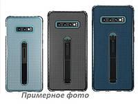 Чехол-накладка Protect Slim с подставкой-держателем для Samsung Galaxy A20 / A30 Прозрачный