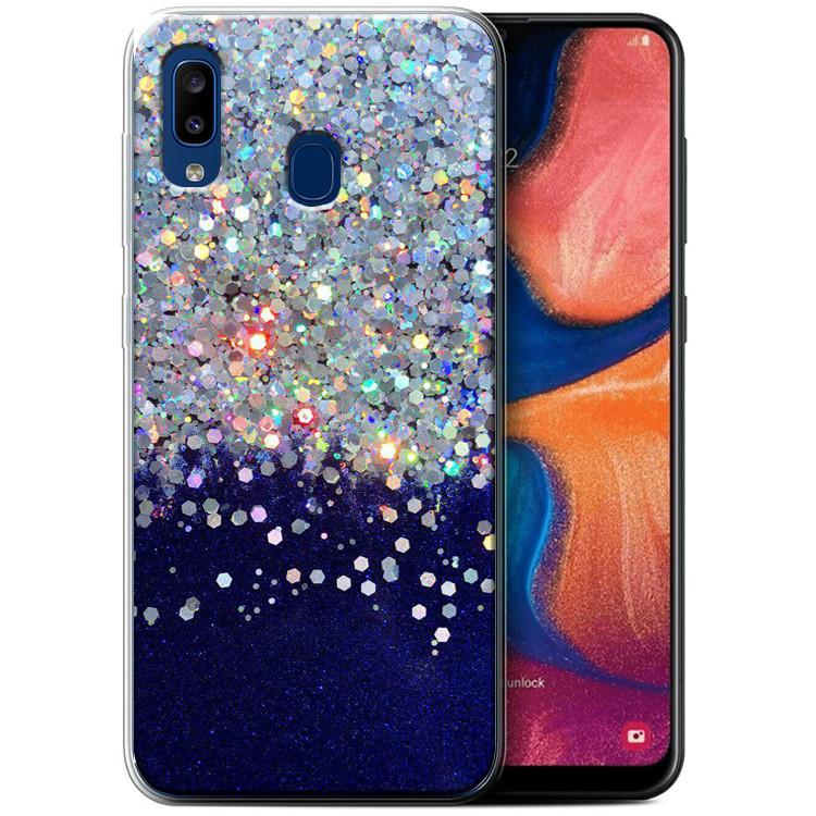 Чехол-накладка Galaxy Glitter для Samsung Galaxy A20 / A30 Фиолетовый