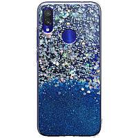 Чехол-накладка Galaxy Glitter для Xiaomi Redmi 7 Синий