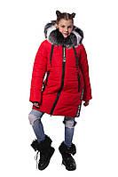 Зимнее теплое пальто School для девочки подростка 128-146 р