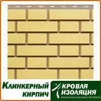 """Фасадная панель """"Клинкерный кирпич"""", цвет: Желтый; 1,22х0,44м"""