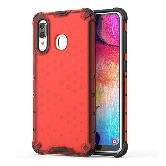 Ударопрочный чехол Transformer Honeycomb для Samsung Galaxy A20 / A30 Красный