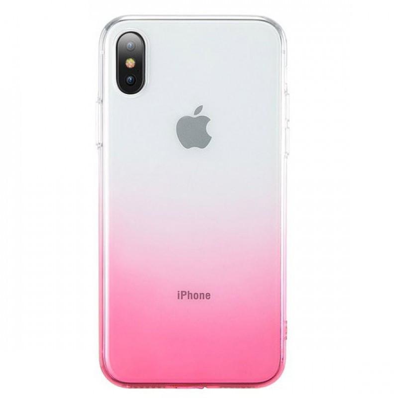 "Чехол-накладка Ombre для Apple iPhone XS Max (6.5"") Розовый"