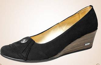 Женский туфель -замша (черный)