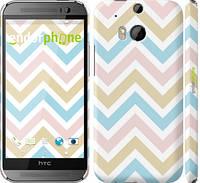 """Чехол на HTC One M8 dual sim Шеврон v8 """"2821c-55"""""""