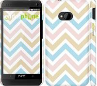 "Чехол на HTC One M7 Шеврон v8 ""2821c-36"""