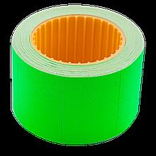 Цінник 35*25мм (240шт, 6м), прямокутний, зовнішня намотка, зелений