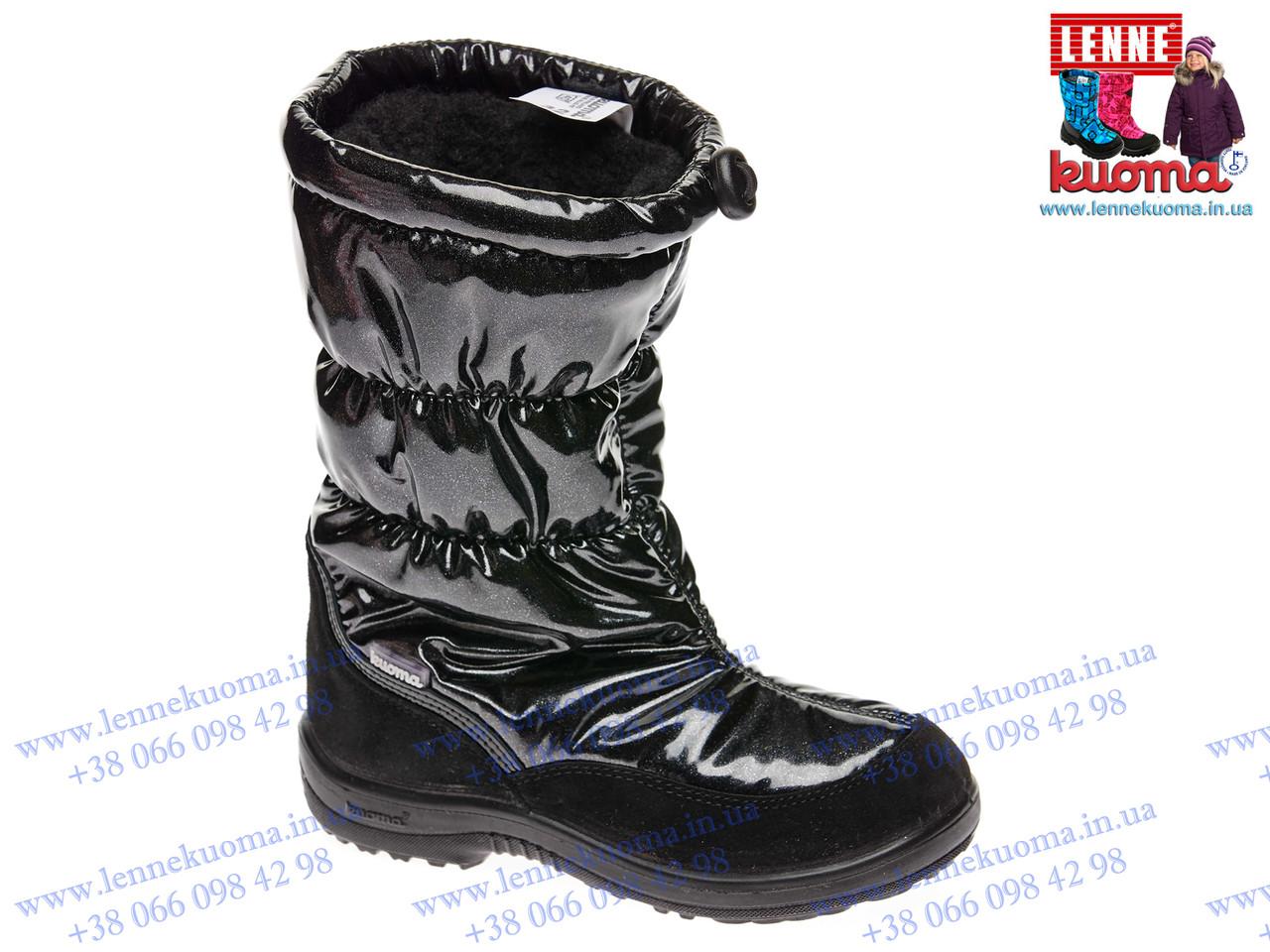 Зимние сапожки KUOMA Gloria Black для девочки. Размер 32 (20,8см)