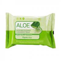 Набор очищающий салфеток Farmstay Aloe Moisture Soothing Cleansing Tissue