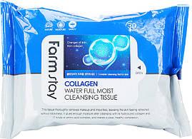 Увлажняющие салфетки с коллагеном Farmstay Collagen Water Full Moist Cleansing Tissue