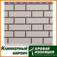 """Фасадная панель """"Клинкерный кирпич"""", цвет: Белый; 1,22х0,44м"""