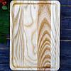 Кухонная разделочная доска классическая с канавкой из ясеня 35х25х2 см