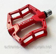 Педали POCOOL LC6, CNC Machined, промподшипники, красный