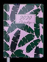 Ежедневник дат. 2020 PARADISE, A5, 336 стр., зеленый