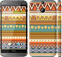 "Чехол на HTC One M8 Узор v15 ""2819c-30"""