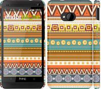 "Чехол на HTC One M7 Узор v15 ""2819c-36"""