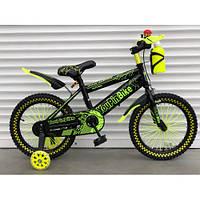 """Велосипед TopRider 869 20"""" салатовый детский двухколесный с бутылочкой, фото 1"""