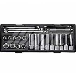 """Набір інструменту ключі TORX E6-E24, головки 1/2"""" E10-E24 24ед"""