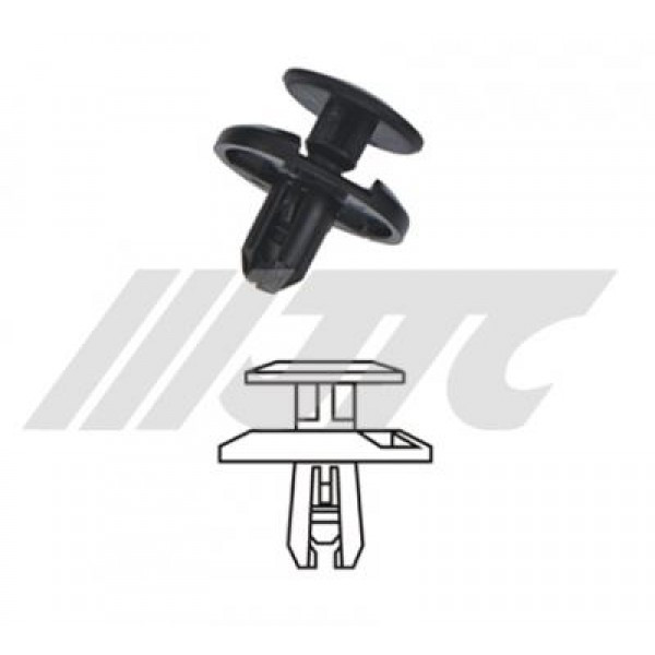 Автомобильная пластиковая клипса (крылья TOYOTA) ( уп 100 шт.)