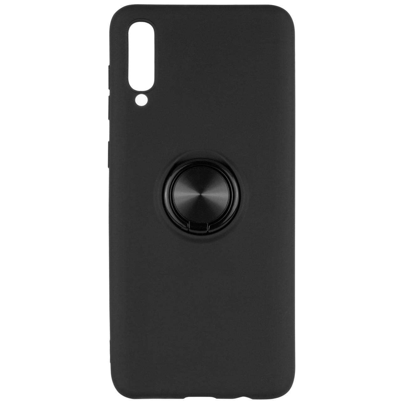 Чехол-накладка Summer ColorRing под магнитный держатель для Samsung Galaxy A50 (A505F) / A50s / A30s Черный