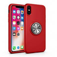 """Чехол-накладка Summer ColorRing под магнитный держатель для Apple iPhone XS Max (6.5"""") Красный"""