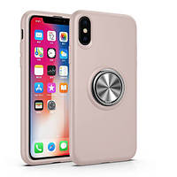 """Чехол-накладка Summer ColorRing под магнитный держатель для Apple iPhone XS Max (6.5"""") Розовый"""