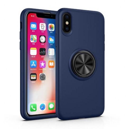 """Чехол-накладка Summer ColorRing под магнитный держатель для Apple iPhone XS Max (6.5"""") Синий"""