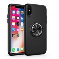 """Чехол-накладка Summer ColorRing под магнитный держатель для Apple iPhone XS Max (6.5"""") Черный"""