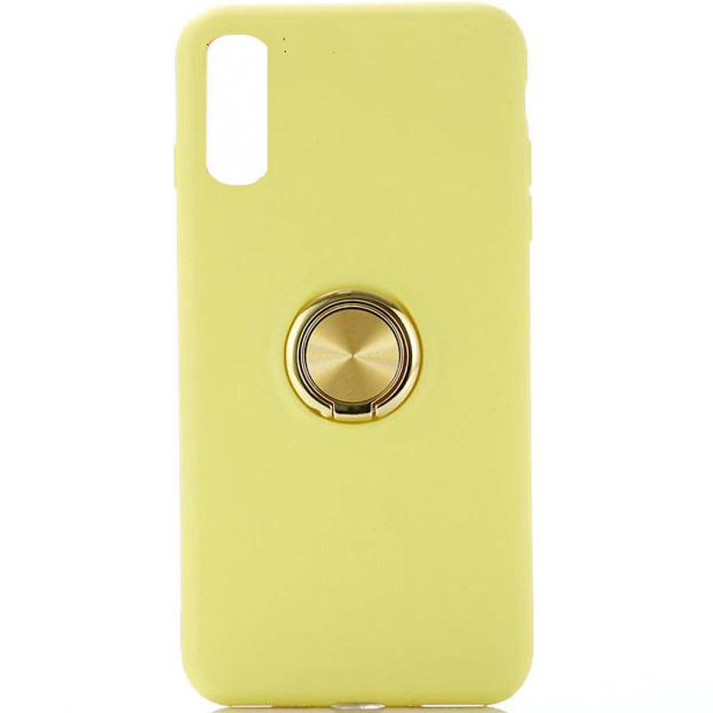 """Чехол-накладка Summer ColorRing под магнитный держатель для Apple iPhone XS (5.8"""") Желтый"""