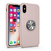 """Чехол-накладка Summer ColorRing под магнитный держатель для Apple iPhone XS (5.8"""") Розовый"""