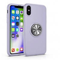 """Чехол-накладка Summer ColorRing под магнитный держатель для Apple iPhone XS (5.8"""") Фиолетовый"""