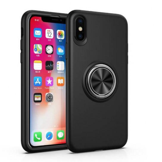 """Чехол-накладка Summer ColorRing под магнитный держатель для Apple iPhone XS (5.8"""") Черный"""