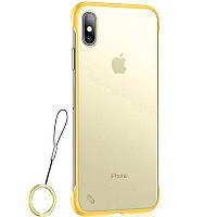 """Чехол-накладка LikGus Edge (+ кольцо) для Apple iPhone XS Max (6.5"""") Желтый"""