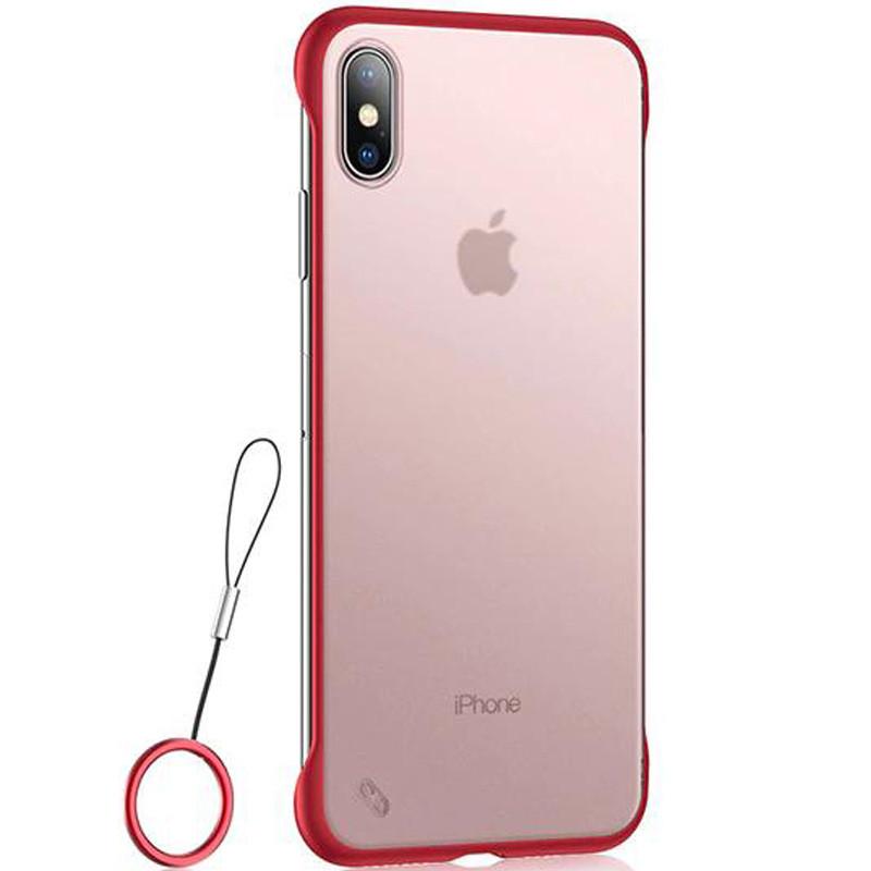 """Чехол-накладка LikGus Edge (+ кольцо) для Apple iPhone XS Max (6.5"""") Красный"""