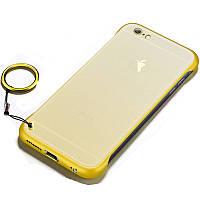 "Чехол-накладка LikGus Edge (+ кольцо) для Apple iPhone 7 / 8 (4.7"") Желтый"
