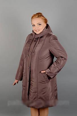 Зимнее плащевое пальто