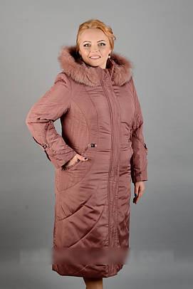 Зимний женский длинный пуховик