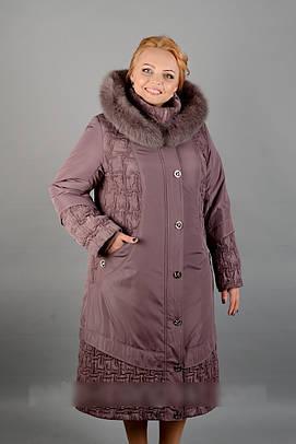 Зимнее женское пальто с песцом