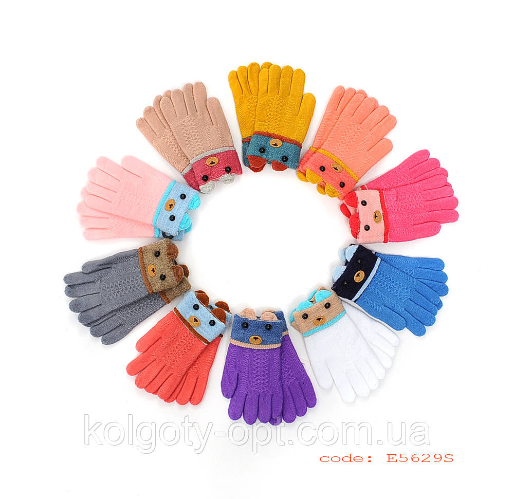 Рукавички дитячі букле для дівчаток (продаються тільки від 12 пар) перчатки
