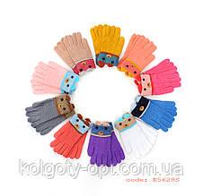 Перчатки детские букле для девочек (продаются только от 12 пар)